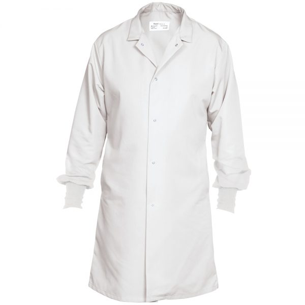 white food service coat with cuffs