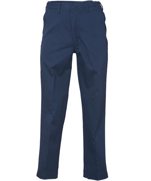Men/'s Work Pants Dark Navy Blue 100/% Cotton Flex Waist Industrial REED Uniform