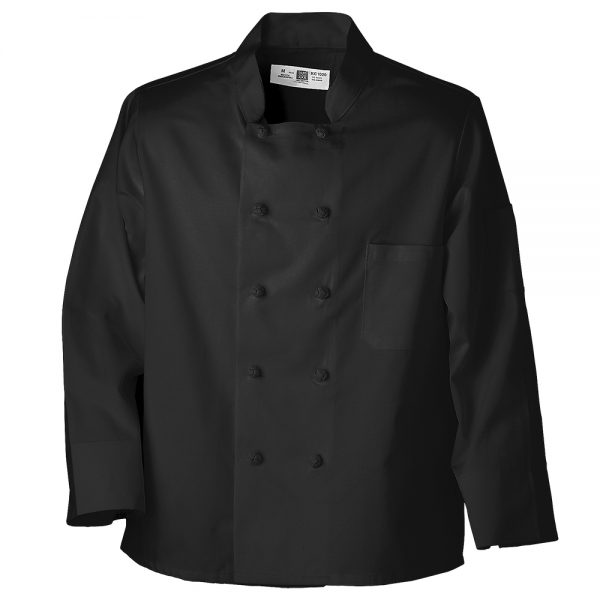 Black Chef Coat with Knot Buttons